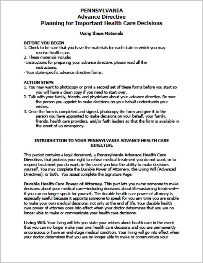 Springing Power Of Attorney Form Pa