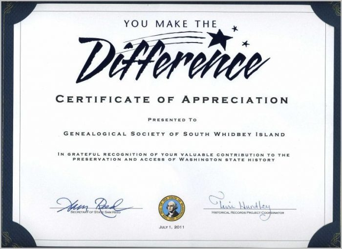 Thank You Certificate Of Appreciation Template