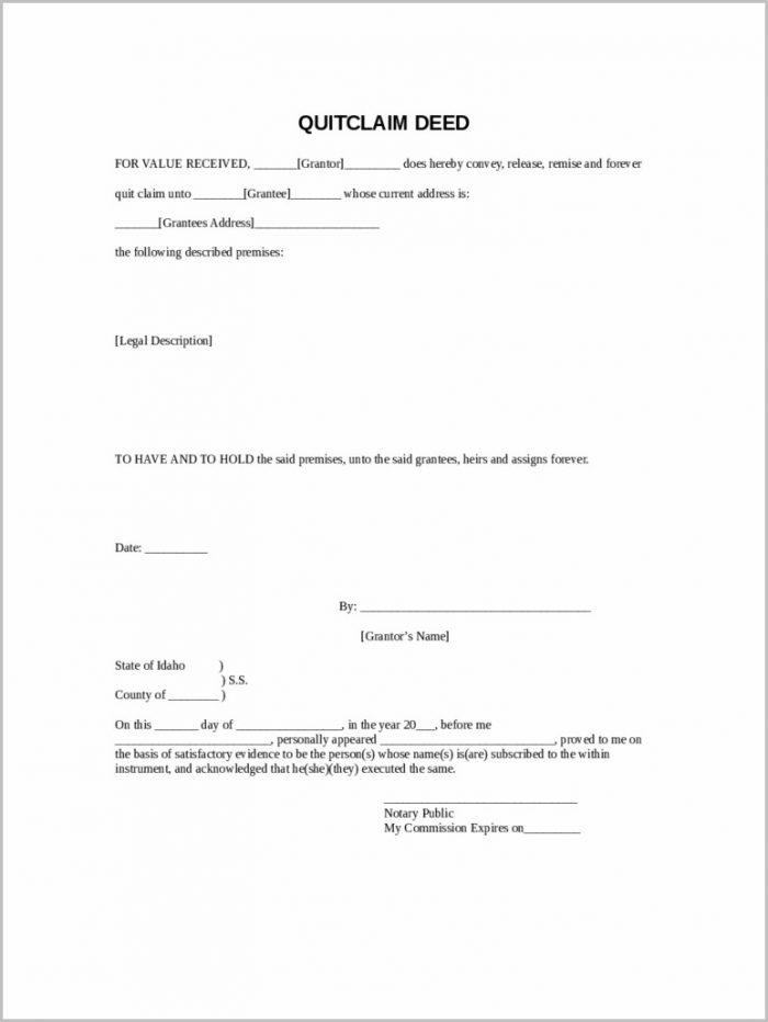 Warranty Deed Form Free Download