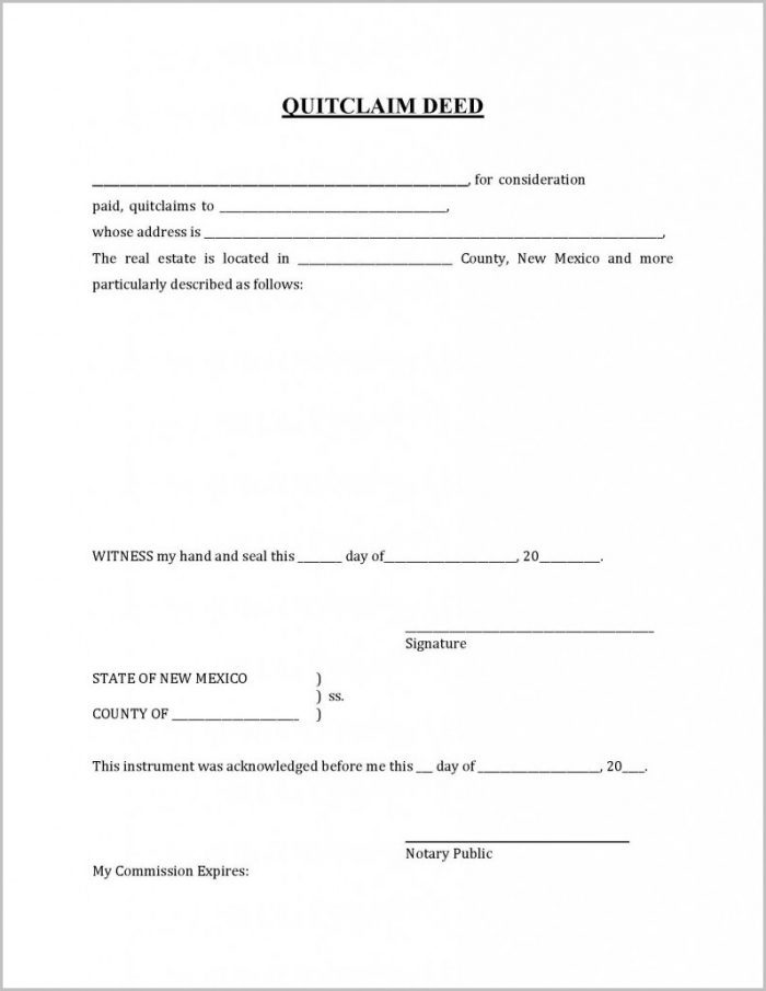 Warranty Deed Form Nm