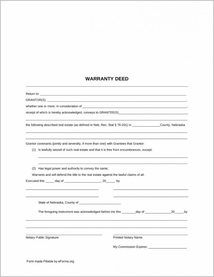 Warranty Deed Form Wisconsin