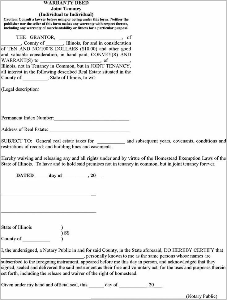 oklahoma form joint tenancy warranty deed
