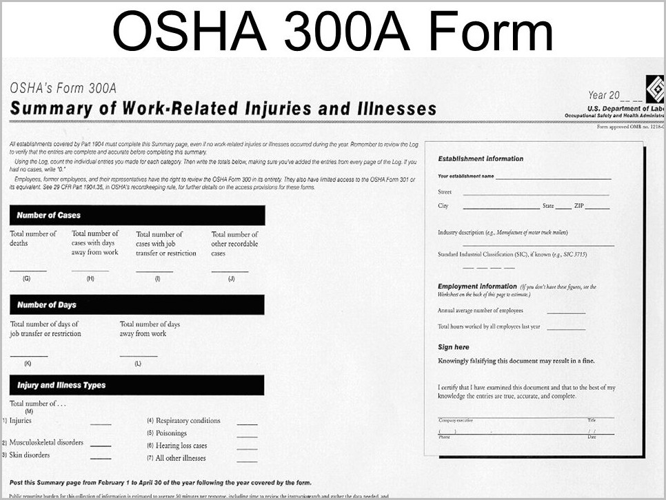 What Is The Osha 300a Form