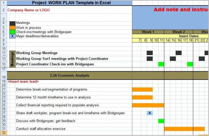 Work Plan Template Project Management