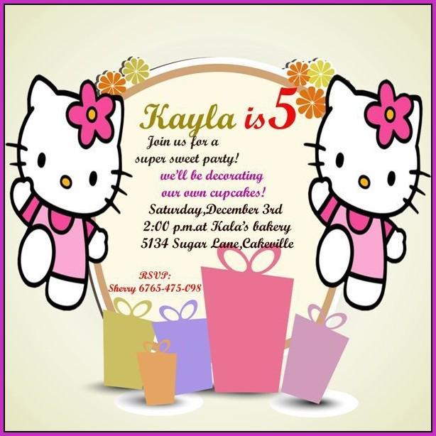 5th Birthday Invitation Templatesb