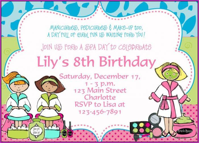 8th Birthday Invitation Templates