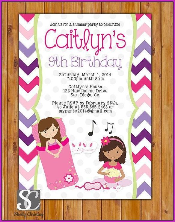 9th Birthday Invitation Templates