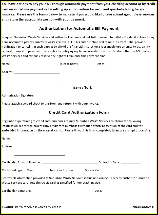 Ach Payment Form Template