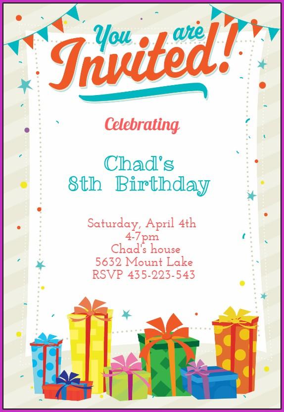 Birthday Invitation Templates Boy