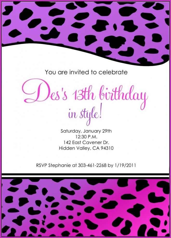Birthday Invitation Templates Google Docs