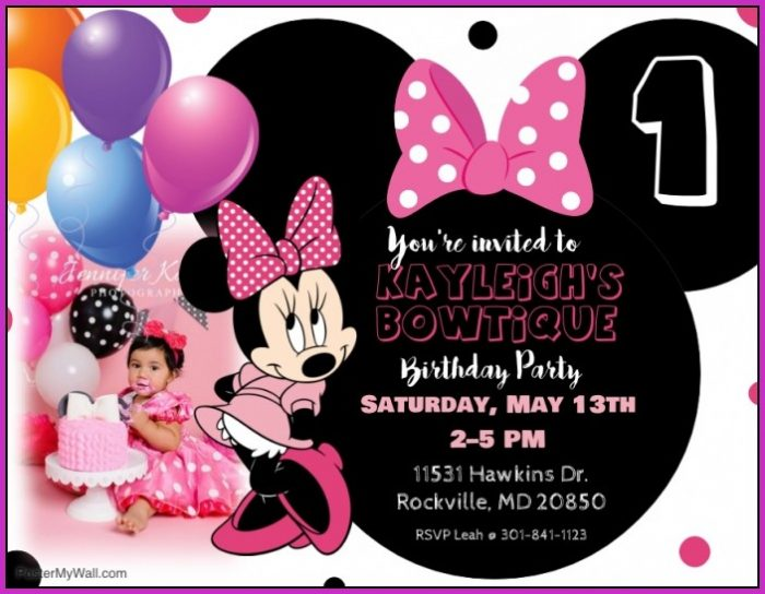 Birthday Invitation Templates Minnie Mouse