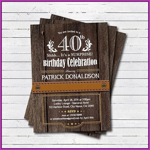 Birthday Invitation Templates Pdf