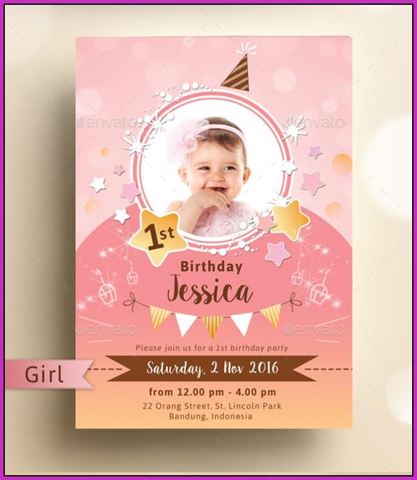 Birthday Invitation Templates Psd