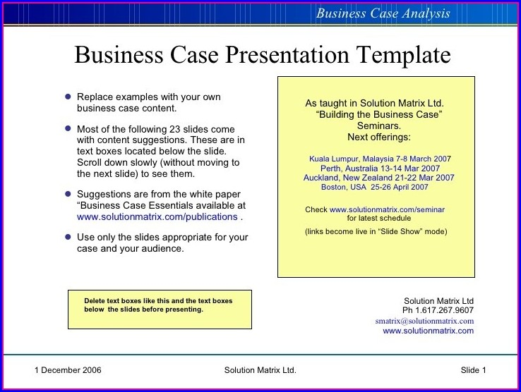 Business Case Example Ppt