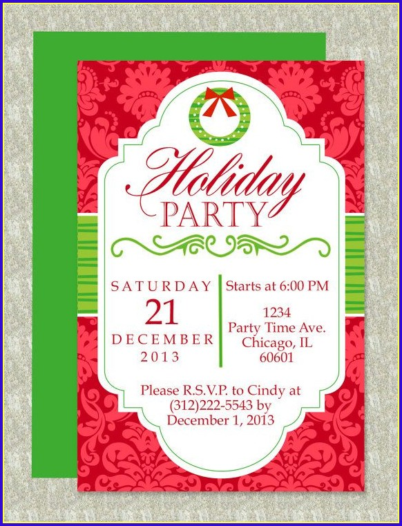 Christmas Invitation Templates Word Free