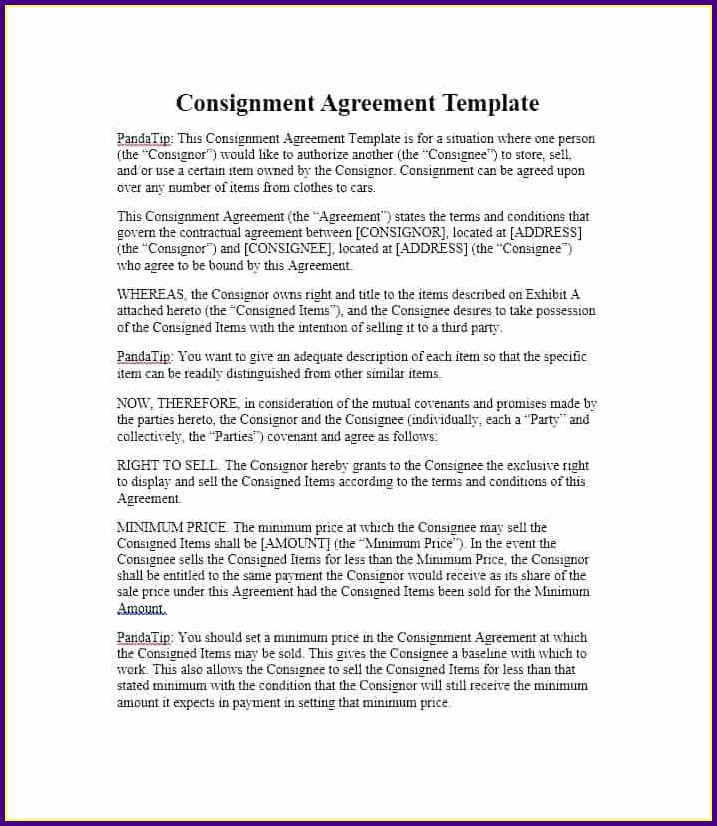 Consignment Agreement Template Australia Templates 1 Resume Examples
