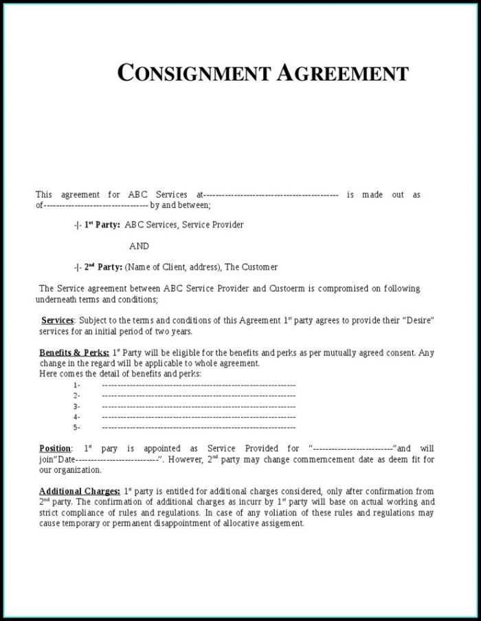 Jewelry Consignment Contract Template Templates 1 Resume Examples