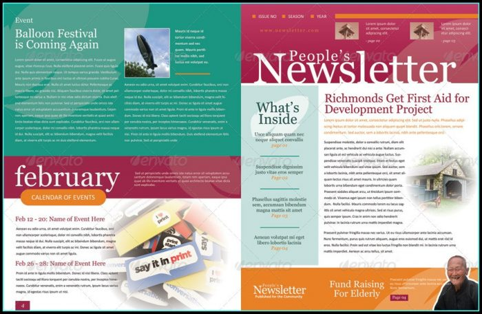 Email Newsletter Template Indesign