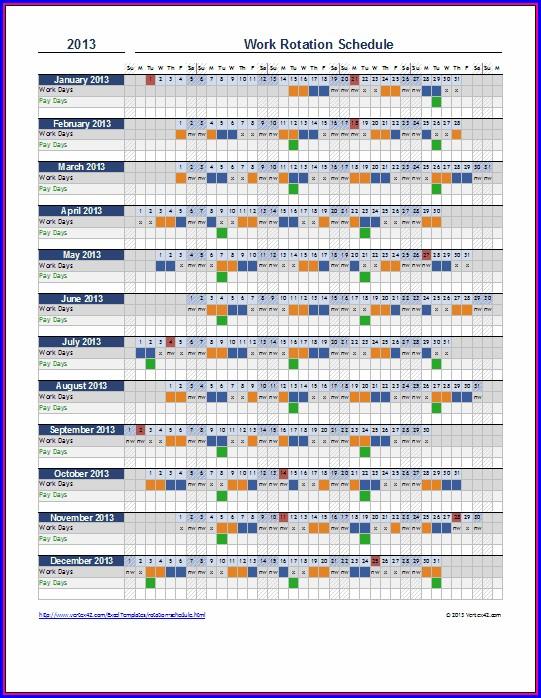 Employee Schedule Template In Excel