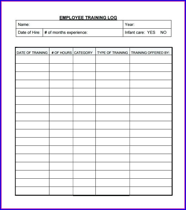 Employee Training Plan Template Excel Free