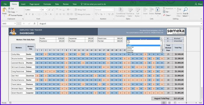 Excel Employee Shift Schedule Template Software Download