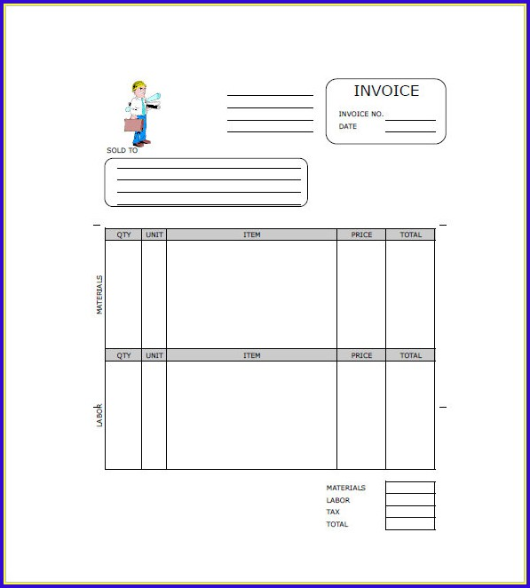 Free Contractor Invoice Template Word
