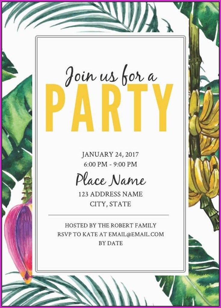 Free Jungle Birthday Invitation Templates