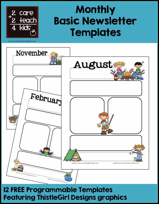 Free Monthly Newsletter Templates For Preschool