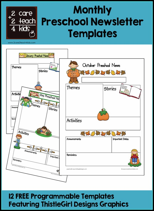 Free October Preschool Newsletter Templates