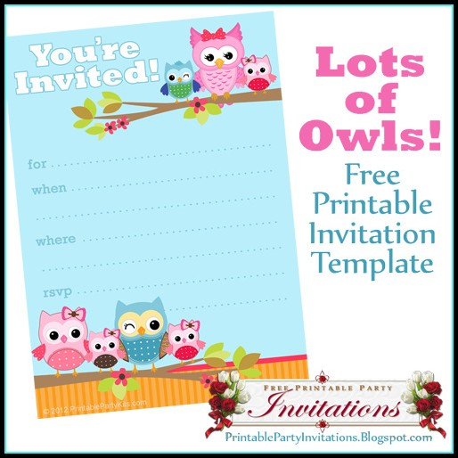 Free Owl Baby Shower Invitation Template