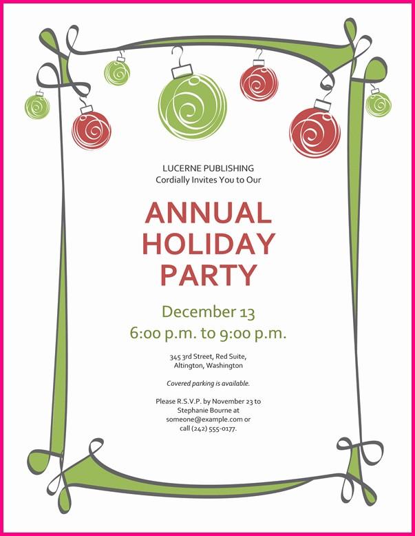 Free Printable Holiday Invitation Templates