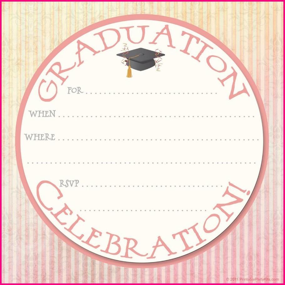 Free Printable Nursing Graduation Party Invitation Templates