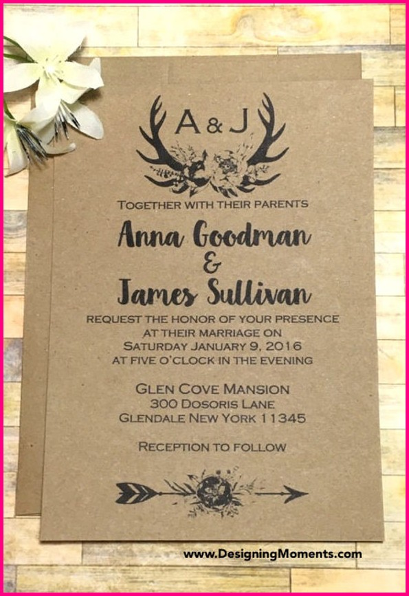 Free Printable Rustic Wedding Invitation Templates