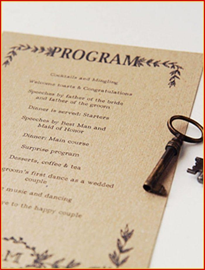 Free Printable Rustic Wedding Program Templates