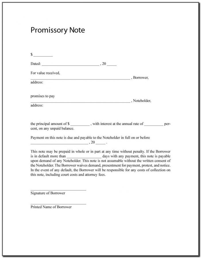 Free Promissory Note Template Ontario Canada