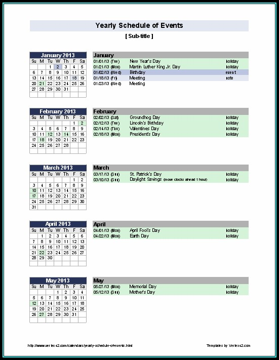 Free Rotating Schedule Template