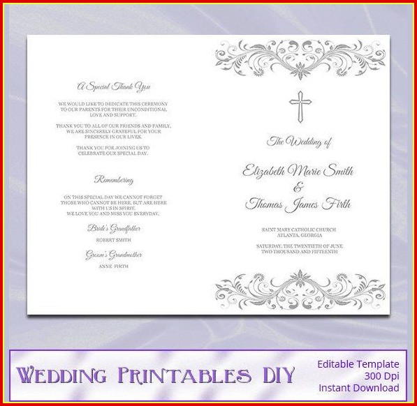 Free Wedding Program Template Downloads Word