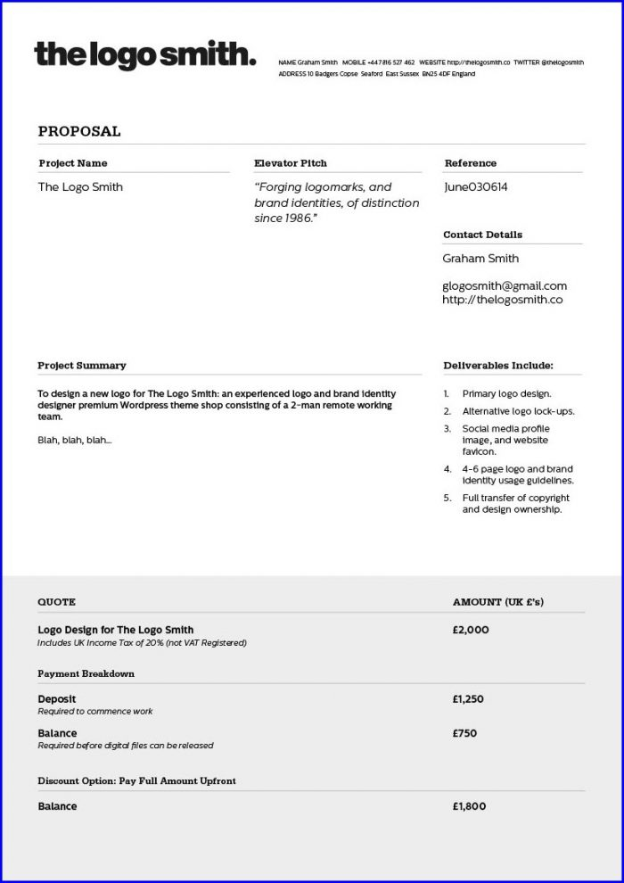 Freelance Designer Invoice Template Uk