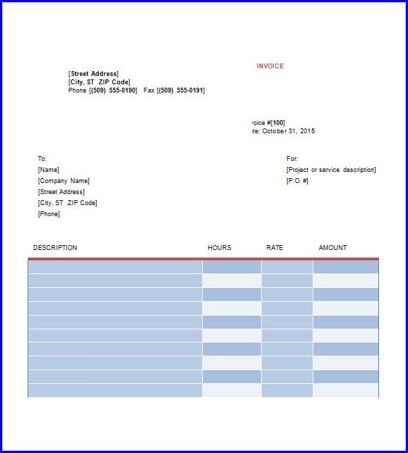 Freelance Graphic Design Invoice Template Pdf