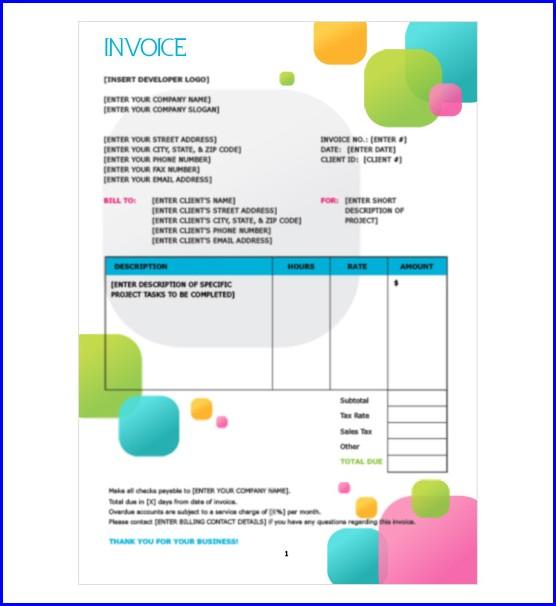 Freelance Illustrator Invoice Template