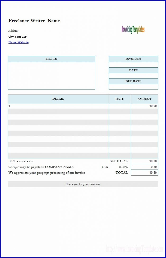 Freelance Interpreter Invoice Template