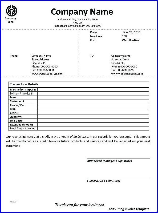Freelance Invoice Template Singapore