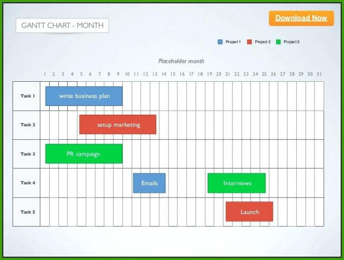 Gantt Chart Template Keynote Mac