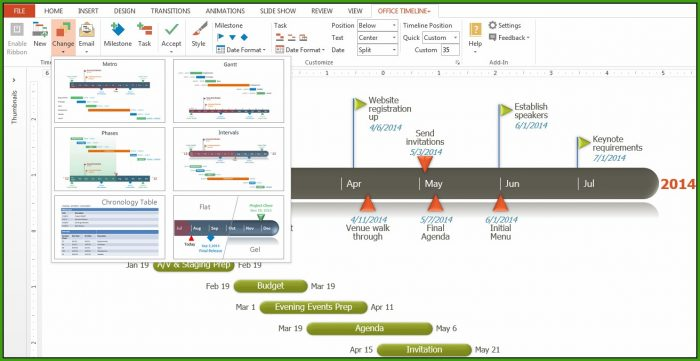 Gantt Chart Timeline Template Excel