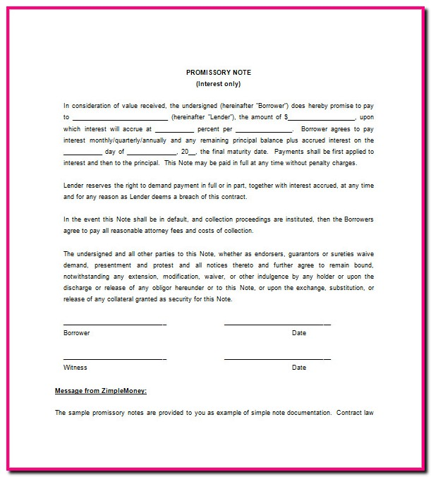 Indian Promissory Note Format Download