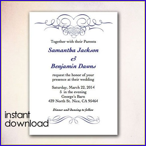 Invitation Templates Microsoft Word