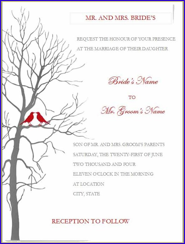Invitation Templates Word Free