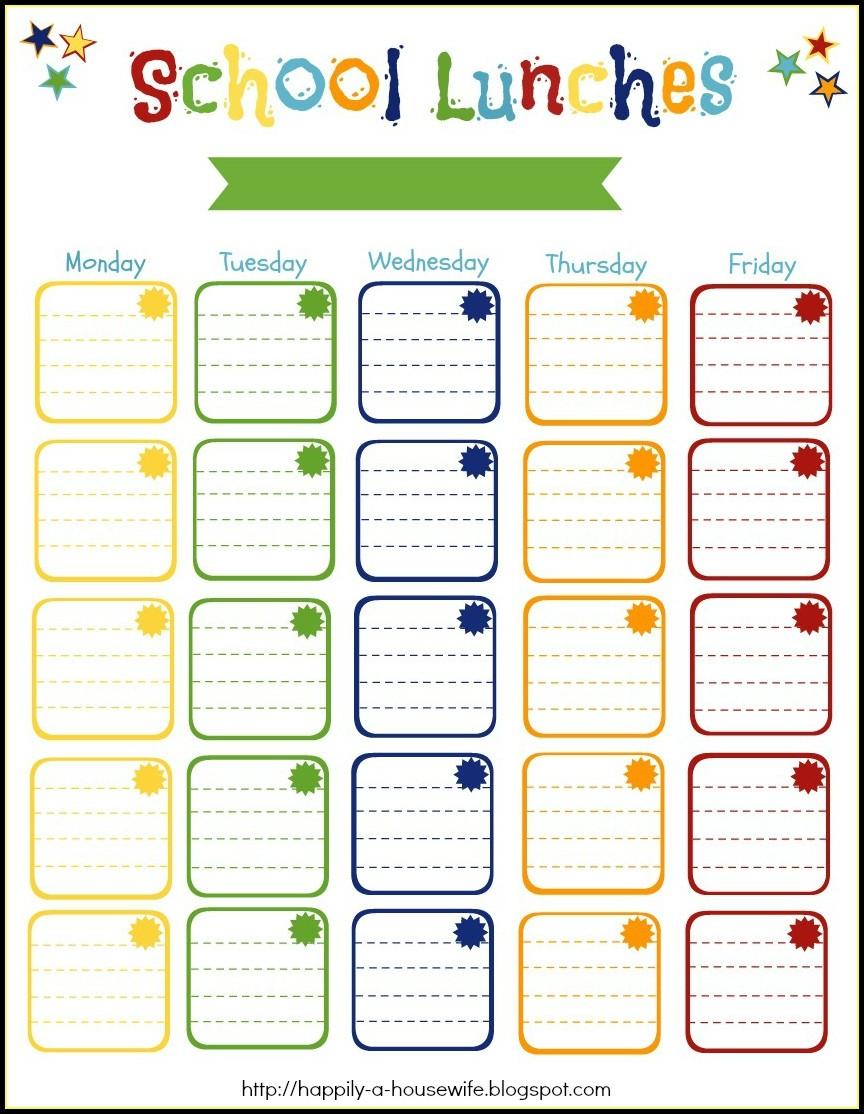 Leer En Línea Monthly School Lunch Menu Template Templates 1