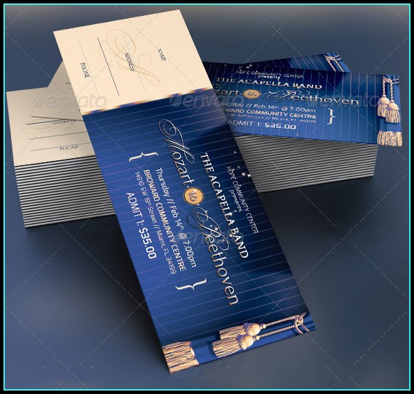 Prom Ticket Design Template