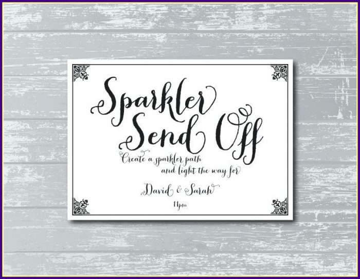 Reserved Table Signs Wedding Reception Template
